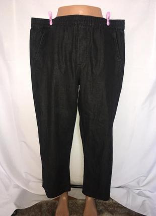 Прямые джинсы на резинке на пышку 60-62 р\1+1=3