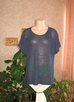 Футболка блуза удлиненная размер 42/xl/50