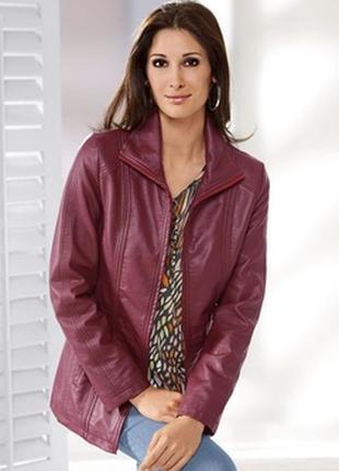 Кожаная куртка цвета марсала, xl - 2xl.