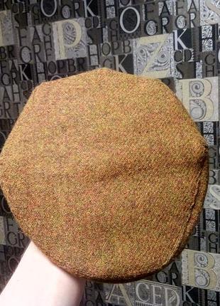 Harris tweed x green grove mill твидовая кепка жиганка