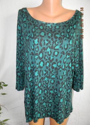 Трикотажная блуза с шифоновой вставкой большого размера george