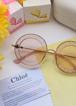 Красивые розовые очки