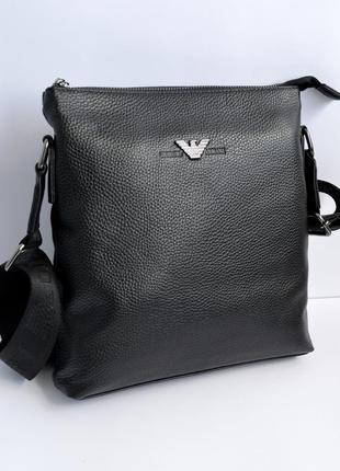Кожаная сумка мужская на одно отделение супер качество
