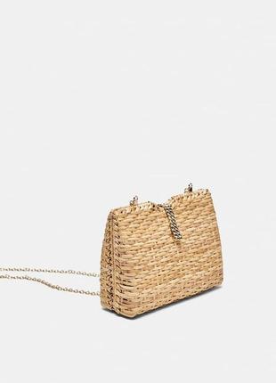 Соломенная сумочка zara