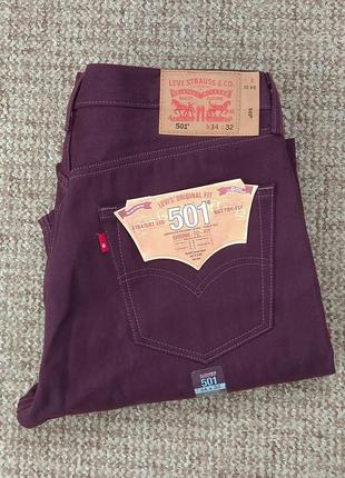 Levi's 501 джинсы shrink-to-fit оригинал (w34 l32) новые