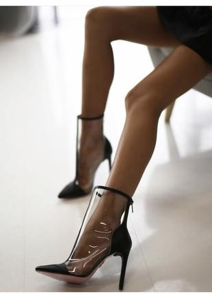 Кожаные туфли ботильоны ботинки туфли