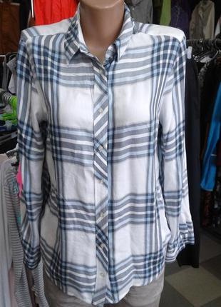 Лёгкая рубашка в клетку / вискоза