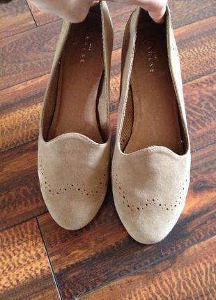 Туфли varese мягкая кожа замш