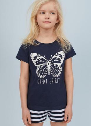 Распродажа! футболка с бабочкой h&m
