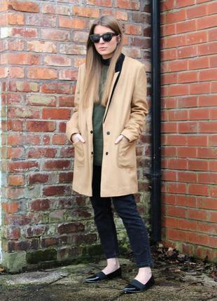 Dorothy perkins стильное бойфренд пальто camel на кнопках