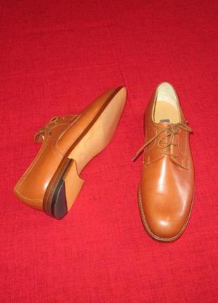 Bally оригинал кожаные туфли оксфорды р. 36 - 36.5