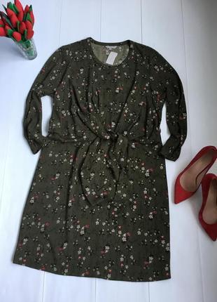 Шикарное платье в цветочек в большом размере батал размер 5xl