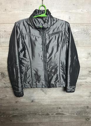Куртка  бомбер серый металлик от freeman t porter