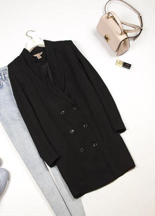 Стильный двубортный тренч удлиненный пиджак жакет плащ xs s