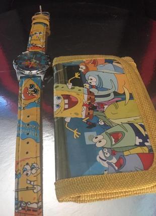 Детский набор кошелёк и часы