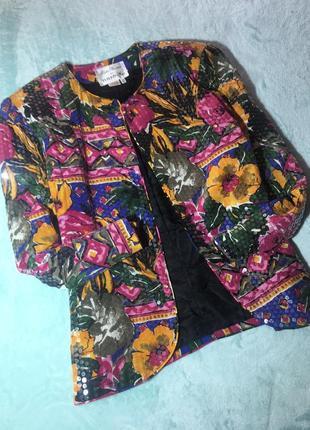 Шёлковый винтажный жакет от rickie freeman for teri jon