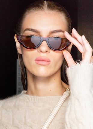 Скидка! очки солнцезащитные женские дольки леопардовый принт тренд 2019 акция!