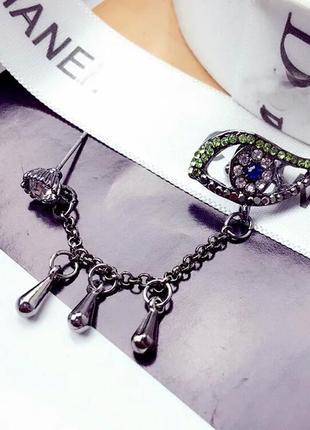 Интересное украшение серьга . качественная бижутерия .