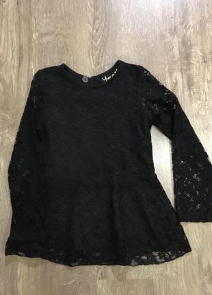 Блузка с баской на 6-7 лет