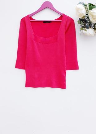 Яркий кораловый джемпер базовый свитер джемпер от vero moda