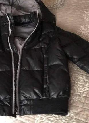 Дутая куртка geox оригинал, с капюшоном