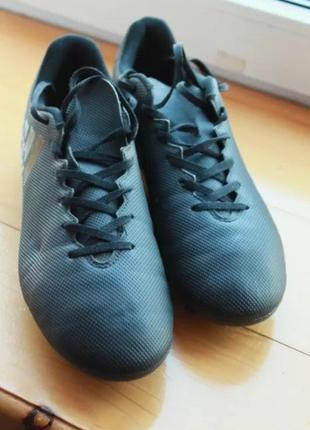 Феноменальные черные мужские копочки бутсы adidas x 17.4