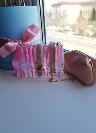 Стильная прозрачная сумка 2в13 фото