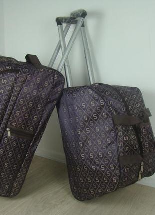 Дорожная сумка с ручкой 2 в 1 на колесах
