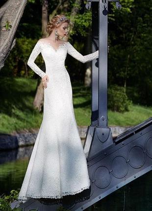 Шикарное свадебное платье ida torez