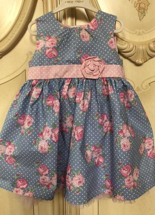 Платье 👗 в горошек с цветочками