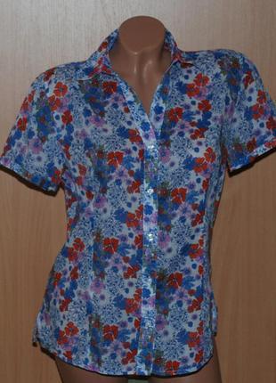 Блуза летняя в цветочный принт бренда marco pecci/ 100%хлопок/