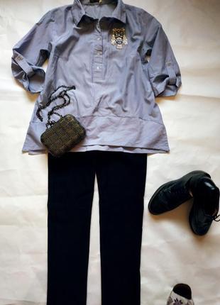 Стильная рубашка трапеция1 фото