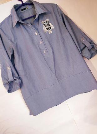 Стильная рубашка трапеция2 фото