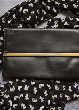 Стильный кожанный клатч сумка asos