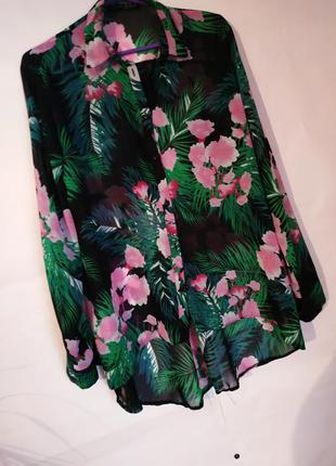 Рубашка блузка лёгкая