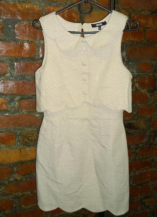 Платье с фигурными деталями и открытой спинкой asos