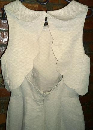 Платье с фигурными деталями и открытой спинкой asos3 фото