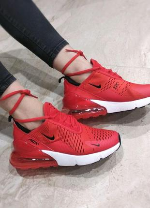 Стильные красные кроссовки nike с баллоном (vesna-ocen-leto)😍