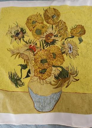 Шелковый платок с картиной винсента ван гога