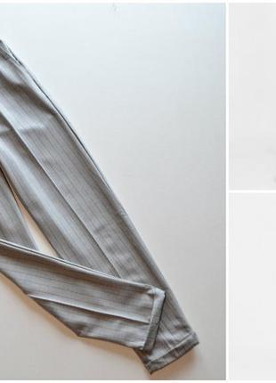 Стильные брюки серые в полоску bershka