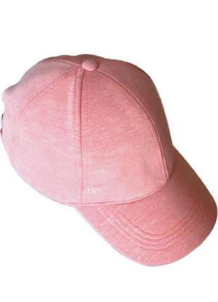 Женская коттоновая трикотажная меланжевая кепка бейсболка, c&a