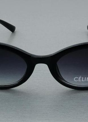 Celine очки женские солнцезащитные черные овальные