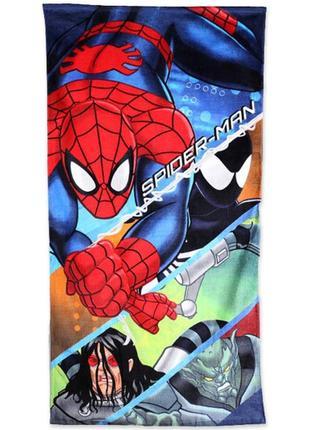 Яркое большое полотенце spider man disney 70×140