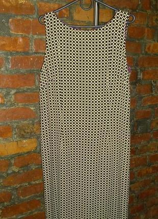 Платье сарафан с геометрическим принтом