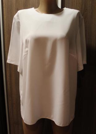 Белая блузка essence в идеальном состоянии 4xl
