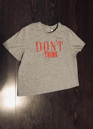 Серая укорочённая футболка