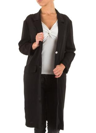 Новый черный удлиненный блейзер, легкое летнее пальто