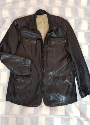 Кожаная куртка-пиджак fabiani