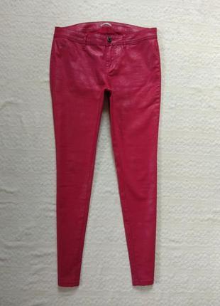 Стильные красные джинсы скинни  с пропиткой orsay, 12 размер.