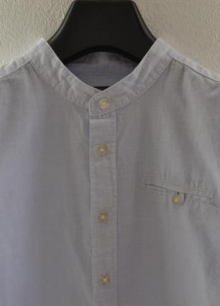 Акция до 12.05! рубашка для мальчика, подростка в мелкую бело-голубую полоску c&a